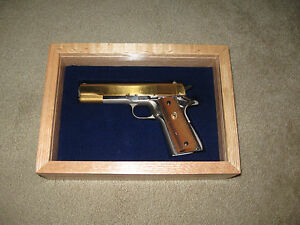 NEW CUSTOM WOOD PISTOL GUN PRESENTATION CASE FOR COLT 1911, PYTHON, SAA, S&W