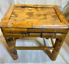Vintage Bamboo Small Side Table 6  x 8  Plant Stand Boho