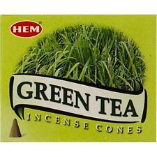 One 10-Cone Box Hem Green Tea Incense Cones!