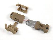 "Mini pocket knife molle 1"" webbing self defense EDC multi tool stainless steel S"