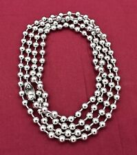 20 INCH 6MM  STAINLESS STEEL SILVER BALL CHAIN WITH A MILITARY CLASP