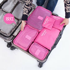 NEW 6 Pcs Waterproof Travel Laundry Pouch Cosmetics Make-up Bags Organizer