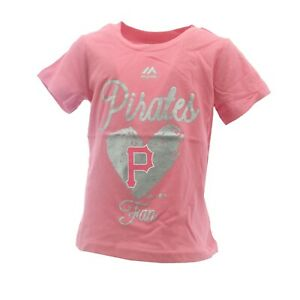 Pittsburgh Pirates Official MLB Genuine Infant Toddler Girls Size T-Shirt New