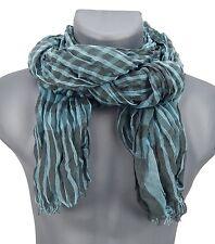 Men's Scarf turquoise grey checked Ella Jonte new season lightweight Ware scarf