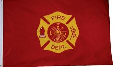Firefighter Fire Rescue Station Flag Fire Dept Embroidered 2-Sided 3'x5' Pro