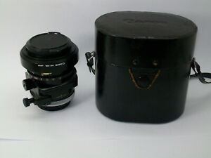 CANON FD TS 35MM 2.8 S.S.C  SHIFT & TILT FUNCTIONAL CLEAN METAL LENS IN ITS CASE