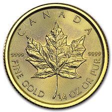 2016 Canada 1/4 oz Gold Maple Leaf BU - SKU #93749