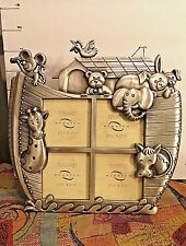 """Noah's Ark Collectible,Pewter Frame, Ken Rich, Metal Works Connection,  8"""" x 8"""""""