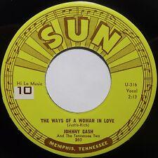 JOHNNY CASH: THE WAYS of A WOMAN IN LOVE ~ SUN ROCKABILLY 45 super VG++ HEAR!