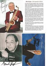 3 Autogramme Musik Lot Max Greger (+) Paul Kuhn (+) Hugo Strasser (+) portofrei