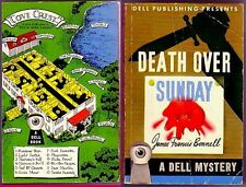 DEATH OVER SUNDAY (1st US pb/1943/James F. Bonnell/Dell #19)