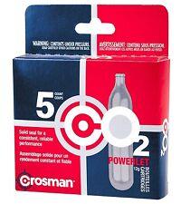 Crosman 12 Gram CO2 Airsoft Cartridge 5 Count Gun Gas BB Pellet Powerlet