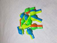 10x Trillerpfeife Pfeife grün blau rot Flöte Kindergeburtstag Mitgebsel