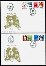 2001 Dogs,Husky,Collie,Basset,St.Bernard,Shepherd,Hunde,Chien,Romania,5574,FDC
