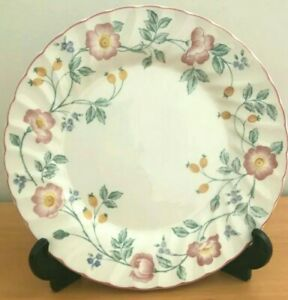 SET OF 18 CHURCHILL BRIAR ROSE DINNER PLATES MADE IN STAFFORDSHIRE ENGLAND