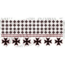 Ginfritter's Gnomish Workshop WARCRO013 Iron Cross Decal Black & Red + Warhammer