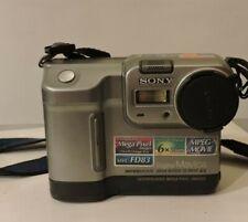 SONY MVC-FD83 ~ 6X ZOOM 0.9 MEGAPIXEL DIGITAL Mavica Camera Used