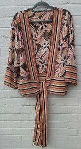 Boho Hippie Print Kaftan Kimono Jacket Size XL 18-20