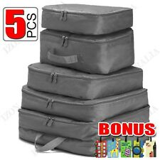 38cba365fa 5pcs Packing Cube Pouch Suitcase Clothes Storage Bags Travel Luggage  Organizer