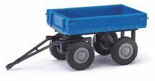 Busch Mehlhose 210 009502 Remorque/E-cart, Bleu/Gris Jantes, H0 Modèle 1:87