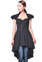 Chic Star Black Soft Gothic Victorian Romance Top or Dress UK 20 Plus Size