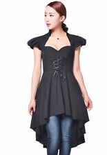 Chic Star Nero Soft Gothic Victorian Romance Top o Abito Taglia UK 20 Plus