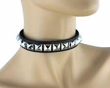Studded Punk Collar Gothic Classic Choker Genuine Leather Usa Made 70's Style