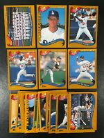 2002 TOPPS LOS ANGELES DODGERS TEAM SET (22) CARDS