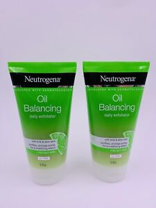 2 X Neutrogena Exfoliator Oil Balancing Cleanser Lime & Aloe Vera 5.07oz Lot X 2