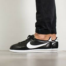 NIKE CLASSIC CORTEZ PREMIUM Running Trainers Gym Casual - UK 9.5 (EU 44.5) Black