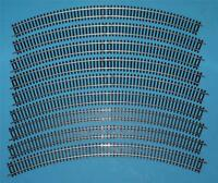 8 NEW R609 HORNBY 3rd RADIUS DOUBLE CURVE NICKEL SILVER R 609 THIRD RADIUS TRACK