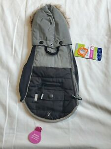 New dog coat Top Paw Hooded Winter Coat, Black/grey. NWT. Size Small