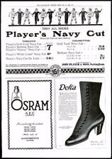 1916 - Antique Print ADVERTISING Players Navy Cut Osram Delta Boots  (082)