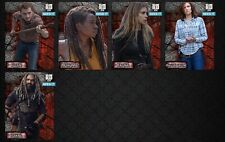 BARBED WIRE WAVE 2 STATIC 5 CARD SET Topps WALKING DEAD DIGITAL CARD TRADER TWD