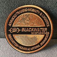 BLACK WATER WORLDWIDE Military Tactical Morale Hook Loop Patch Fastern Badge