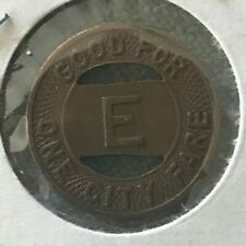 Evansville Indiana IN Evansville City Coach Lines Inc Transportation Token