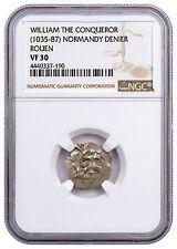(c. 1035-87) Normandy Rouen Silver Denier William Conqueror NGC VF30 SKU46869