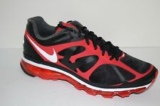 Nike Air Max + 2012 Men's Sz 11 Running/Course Shoes Black/Action Red Sneakers