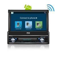 Pyle In-Dash Single-Din 7-inch Motorized Android Wireless Bluetooth Player