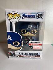 Funko Pop! Avengers #450 Captain America Entertainment Earth w/ 3 Cards
