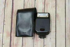 Canon Speedlite 200E Flash Lighting Camera Accessory w Black Leather Case