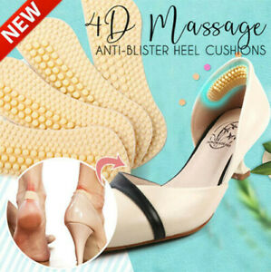 New Arrival 1 Pairs 4D Massage Anti-blister Heel Cushions Silicone Heel Pads