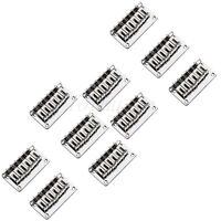 10 Pcs Chrome Fixed Hardtail Hardtail Bridge For 6 String Top Load Guitar Parts