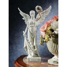 Nike Greek Mythology Winged Victory Goddess Sword & Crown Bonded Marble Statue