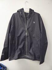 Mountain Hardwear Finder Rain Jacket Hooded Windbreaker - Mens Large Shark