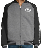 NWT NEW ECKO UNLTD AUTHENTIC MEN'S FLEECE JACKET GRAY LOGO SIZE L