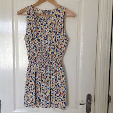 LADIES 'GLAMOROUS' MULTI FLORAL TUNIC DRESS. SIZE 8. GOOD CONDITION.