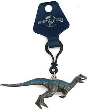 NEW Universal Studios Jurassic Park Velociraptor Blue Backpack Clip Keychain