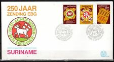 Suriname - 1985 250 years Mission - Mi. 1154-56 clean FDC