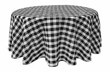 "Black White Tablecloths: Gingham Checkered Design 58"" x 102"" Rectangle"